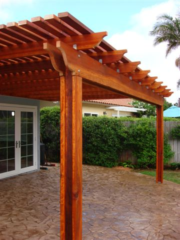 Patio cover photo supplied by J&W Lumber