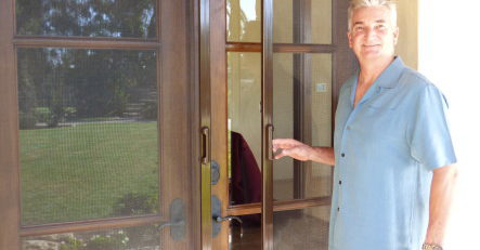 Double French Retractable Screen Door by Mirage
